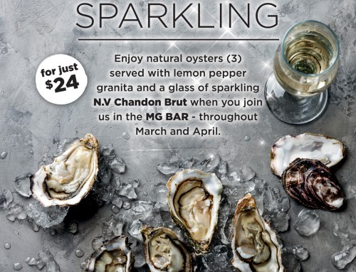 Oysters and Sparkling at MG Bar