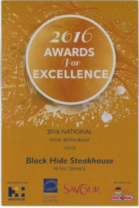 Black Hide Steakhouse National Award